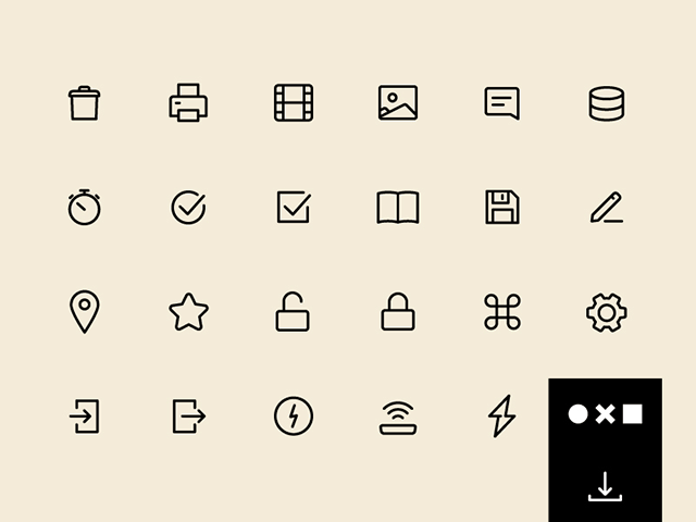 一套UI设计必备SVG图标 A free set of SVG essential icons