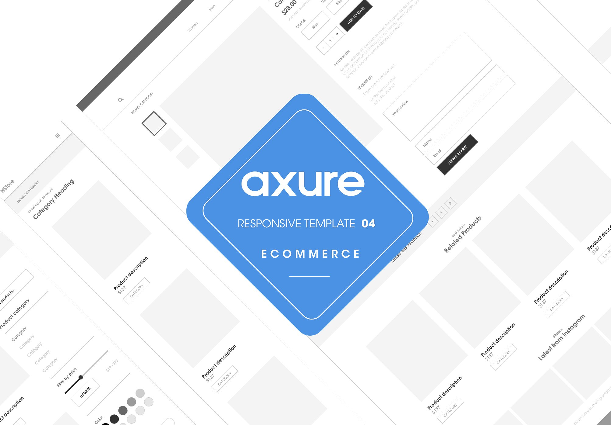 Axure axure responsive ecommerce template4 for Axure tablet template