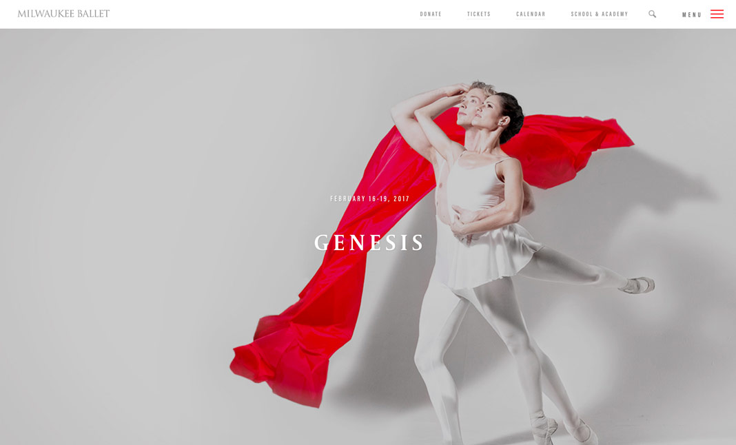 Milwaukee Ballet website