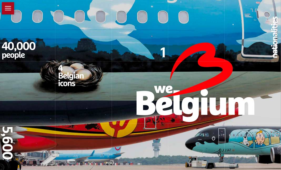 Brussels Airport in Numbers website