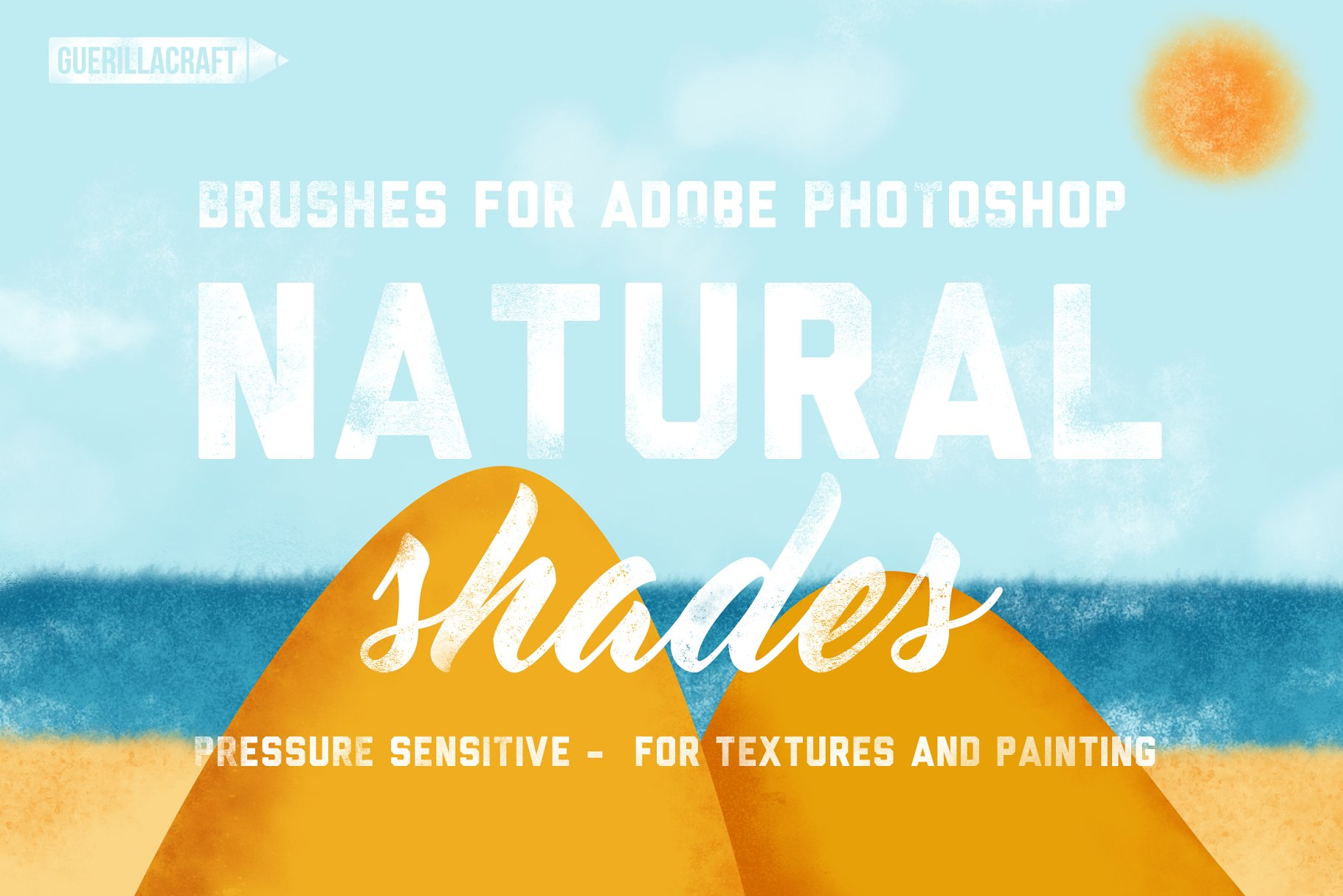 <span class='yzk_title_61183'>自然阴影PS压敏笔刷 Natural Shades For Adobe Photoshop</span>