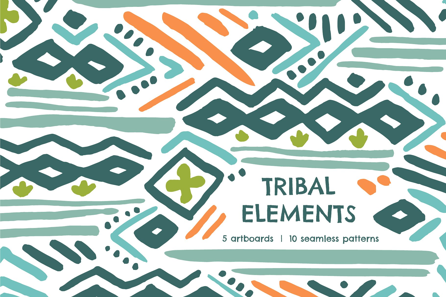 <span class='yzk_title_61865'>手绘部落元素无缝纹理 Tribal Element | Seamless Patterns</span>