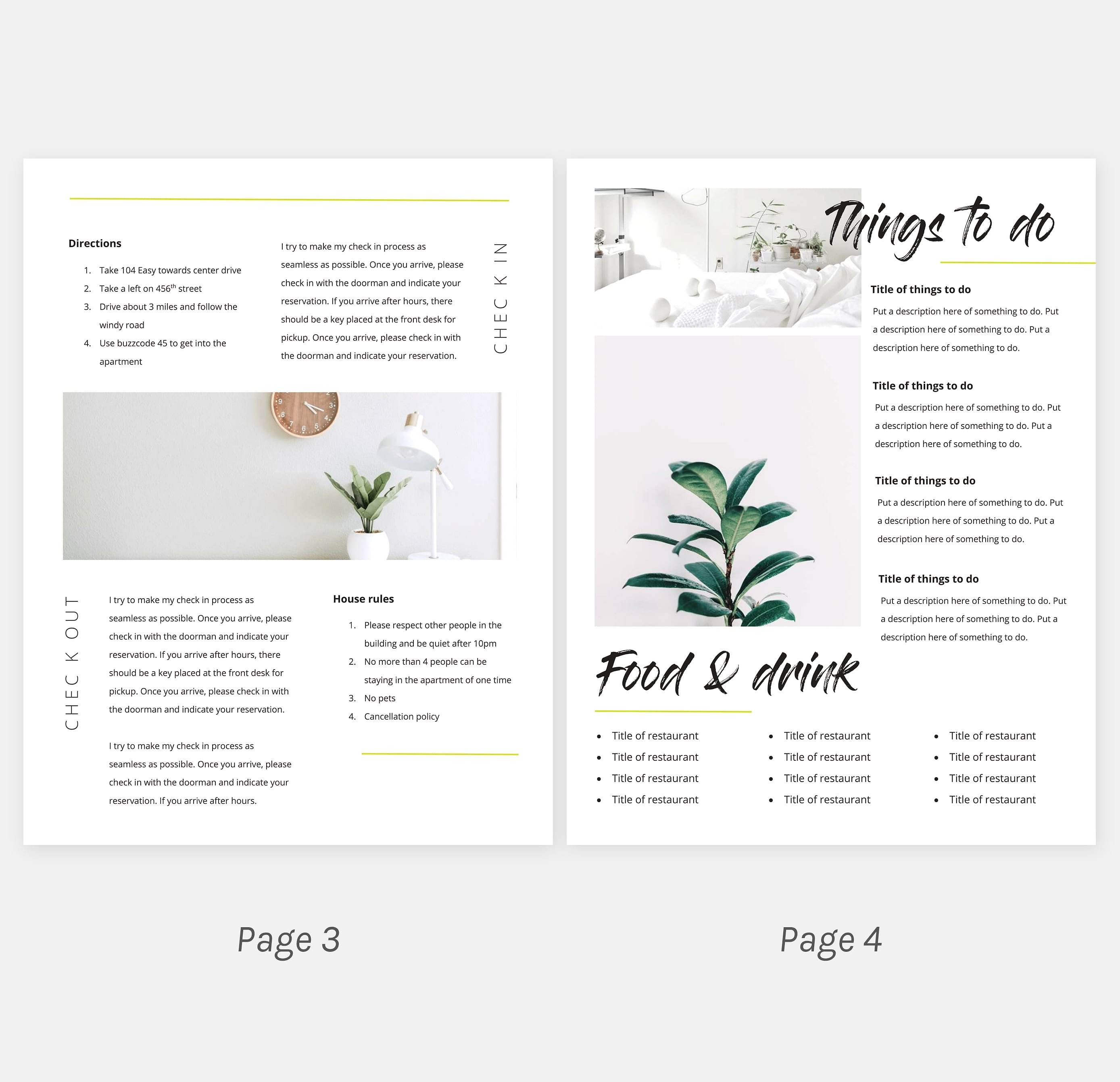airbnb welcome kit template word doc  u2013 cmetco